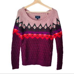 American Eagle Outfitters  Knit Diamond Sweater